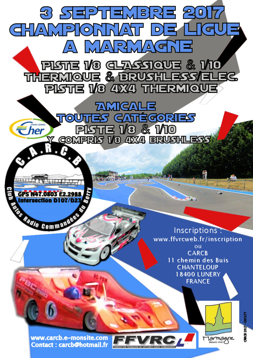 Affiche rc ligue 3 sept 2017 carcb 1